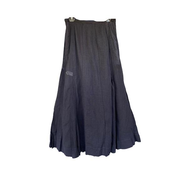 Edwardian Long Black Linen Skirt
