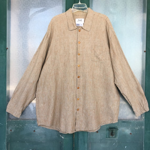 FLAX Engelheart Basic 2000 Long Sleeve Shirt -L- Onion Linen