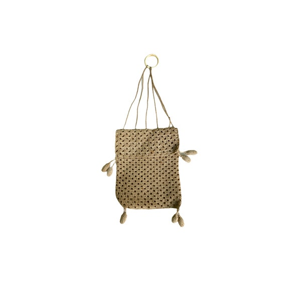 Victorian Crocheted Finger Ring Purse