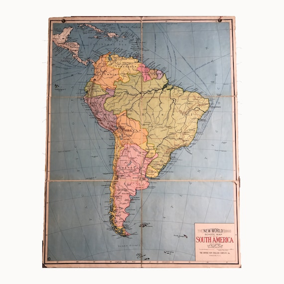 New World Series School Map of South America