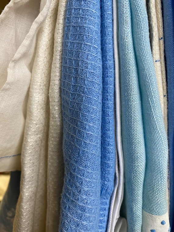 Wholesale Lot of 10 Tea Towels Blue