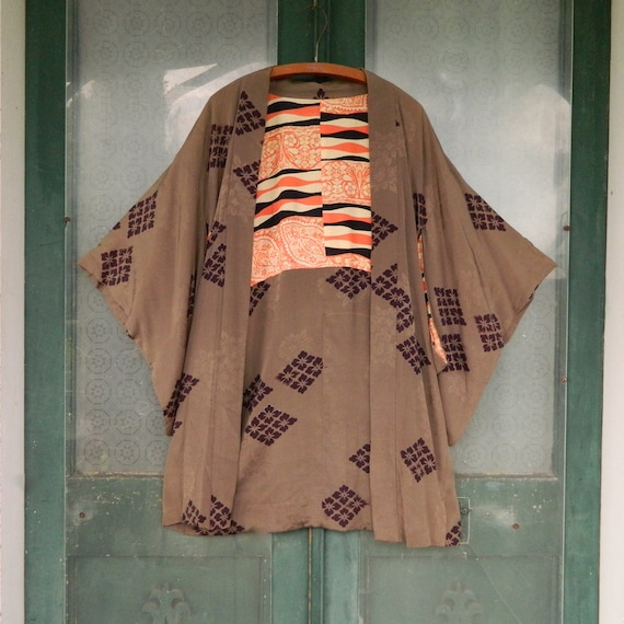 Vintage Japanese Reconstructed Short Kimono