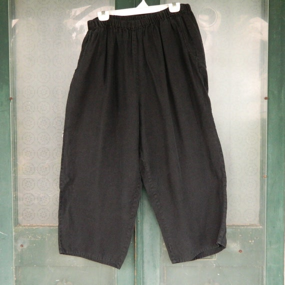 FLAX Engelheart Flood Pants -1G/1X- Black Linen