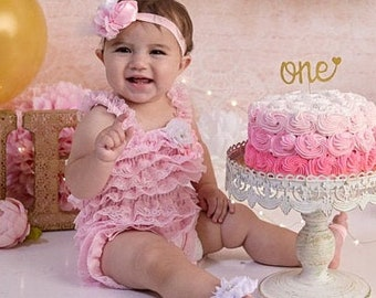Baby Cute Girls Cloth Flower Ruffle Hairband Lace Knit Headband UK SELLER
