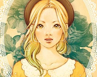 Golden Wattle - Art Print 8 x 11 ( 21 x 29 cm )