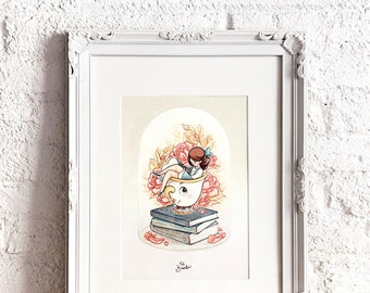 Bella & Chip - Art Print 8 x 11