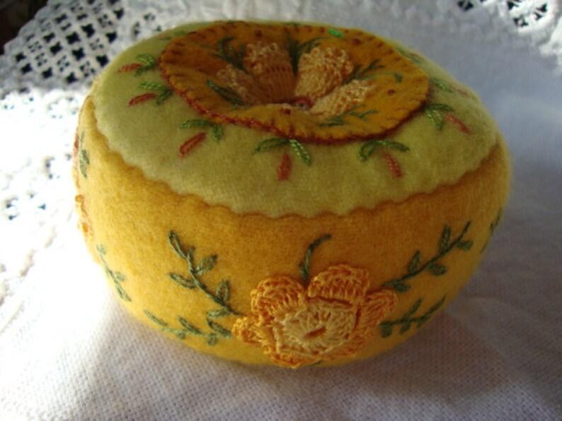 bright yellow pincushion image 0