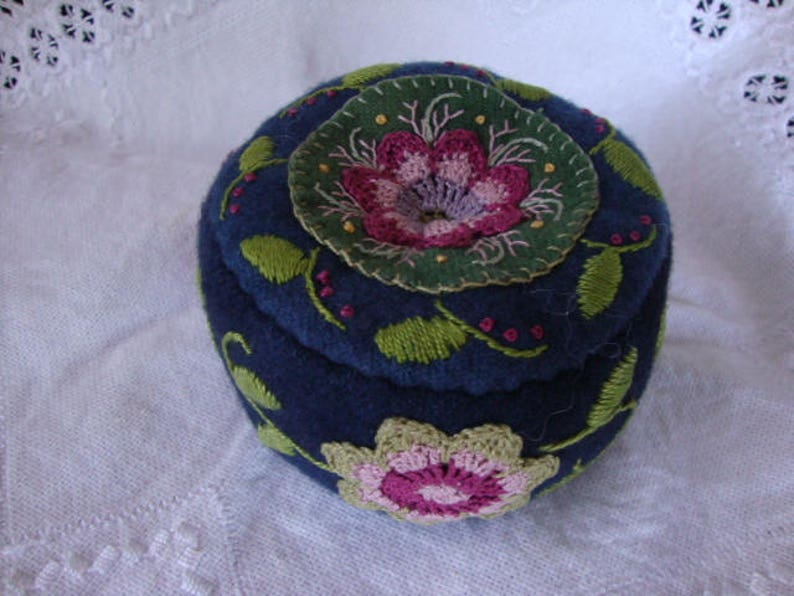 Indigo and Rose pincushion image 0