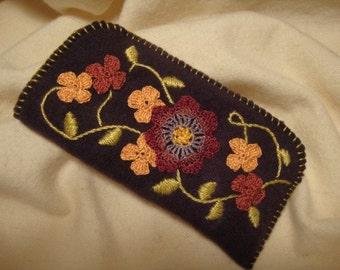 floral vine eyeglass case