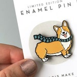 Corgi Enamel Pin - limited edition lapel pin for corgi nerds and dog lovers