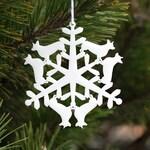 PRE-ORDER - corgi Christmas Tree Ornament - Corgi Snowflake Holiday Ornament, christmas gifts for corgi lovers, snowflake tree ornament