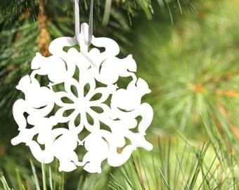 Woodland Christmas ornament, squirrel tree ornament, Christmas ornament for the nature lover, woodland Christmas decor, squirrel Christmas