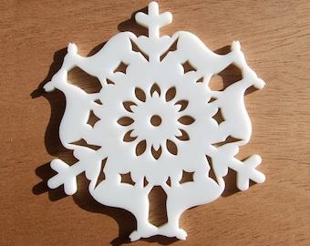 Kissing Deer - Modern Snowflake Ornament