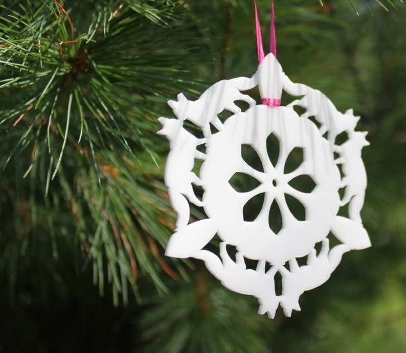 fox snowflake ornament image 0