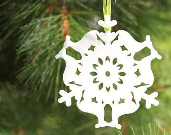 Deer Christmas ornament, woodland Christmas ornament, tree ornament, holiday deer decoration, woodland Christmas decor, deer in love