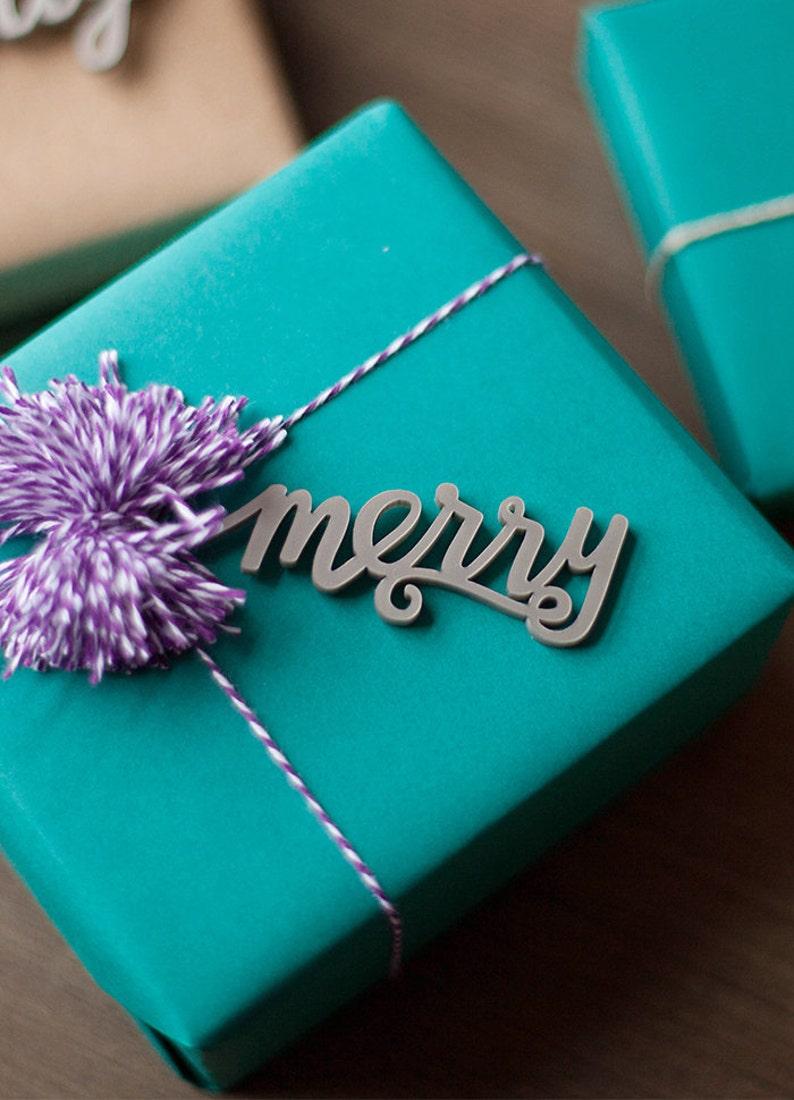 Christmas Gift Tags Christmas calligraphy package tag image 0