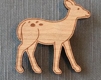 Deer Pin - woodland brooch stocking stuffer