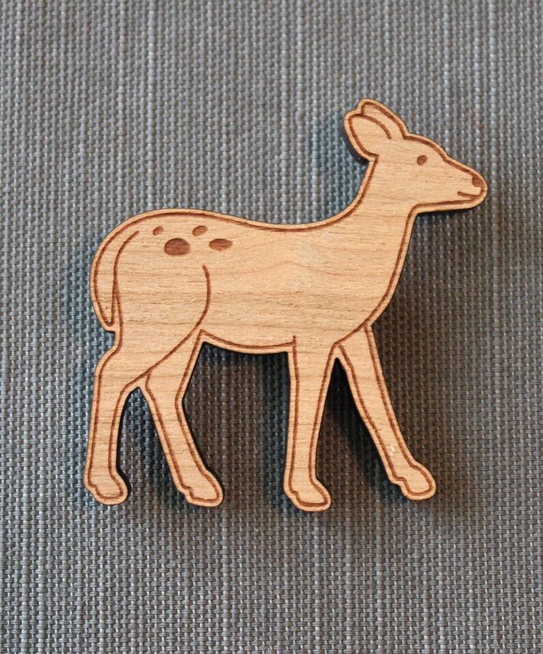 Deer Pin  woodland brooch stocking stuffer image 0