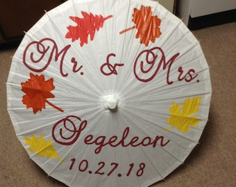 Autumn Leaves Parasol Mr. and Mrs.