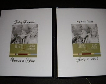 Personalized Wedding Signature frame Today I marry my best friend