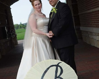 Painted Initial Parasol in your choice of color