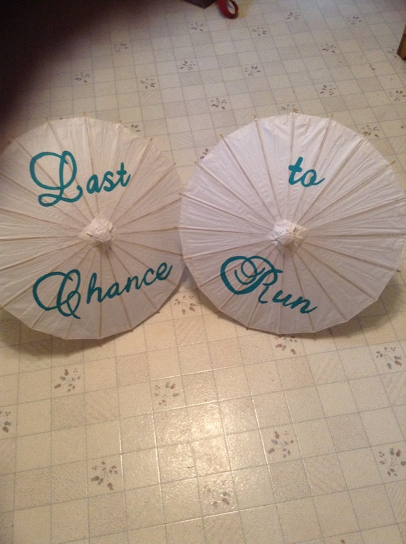Last chance to run set of two  parasols