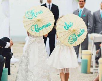 Here Comes the Bride parasols