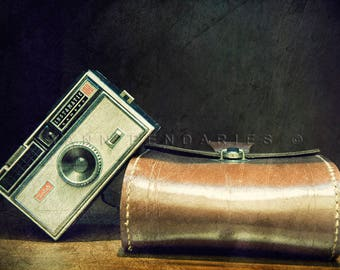 Fine art photography, Kodak vintage camera, Vintage Camera Art, French art, vintage camera art, vintage colors, Brown decor