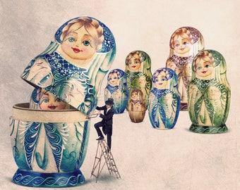 Matryoshka Doll, Dolls And Miniatures, Matryoshka, Matryoshka Dolls, Russian Doll, nesting dolls, nesting, russian nesting doll, russian