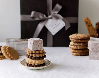 Deluxe Gourmet Cookie Gift Box - Cookie gift box sampler, cookies gift