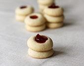 Thumbprint Jam Cookies, Rose & Black Pepper Tea cookies, Gourmet rose cookies