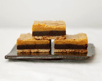 Chocolate Butterscotch Bars, Three Layered Bar Cookies