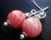 Candy Shop - Wire Wrapped, Swirled Glass, Silver Filled, Earrings