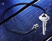 32366 - Key, Wax Cord, Necklace