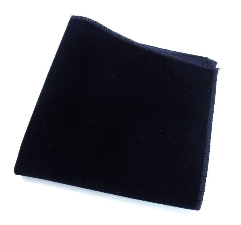 Velvet Mens Ties Navy Blue Velvet Wedding Necktie With Matching Pocket Square Option