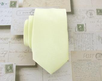 Skinny Tie - Light Yellow Skinny Necktie