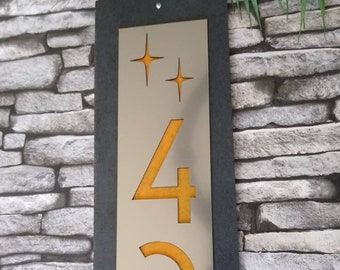 Mid Century Modern House Numbers Etsy