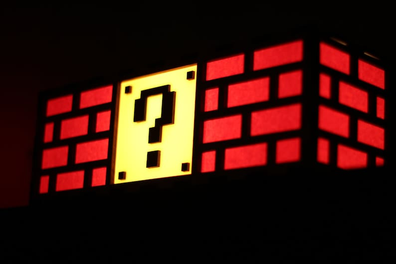 Colorful Mario Question Mark Block Lamp  Nintendo roots image 0
