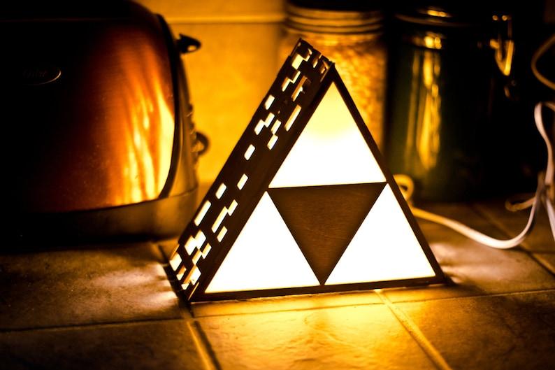 Zelda Triforce Lamp MINI  Hanging or End Table image 0