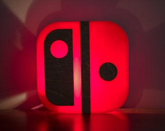 Nintendo Switch lamp - end table, or wall mountable