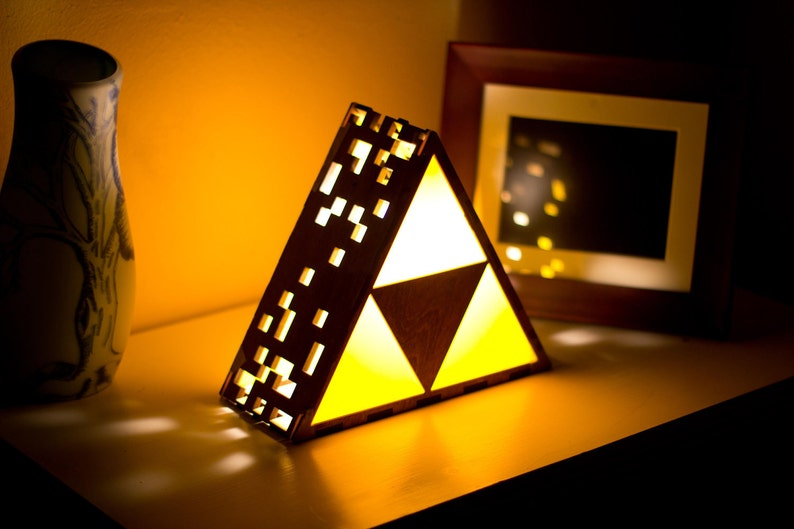 Zelda Triforce Lamp  Original  Hanging or End Table image 0