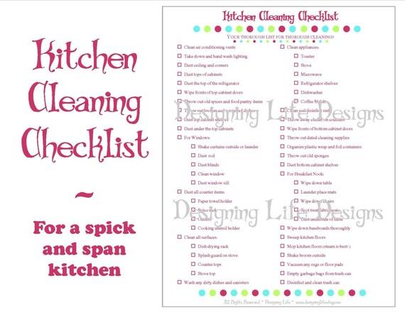 image 0 - Kitchen Cleaning Checklist