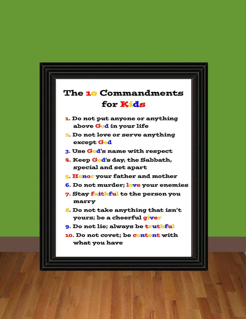photo relating to 10 Commandments for Kids Printable known as The 10 Commandments for Young children - Exodus 20 - Instruction Printable