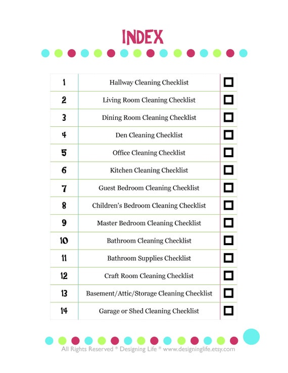 graphic regarding Cleaning Supplies List Printable called Home Cleansing List Printable PDF Fixed - 14 Lists