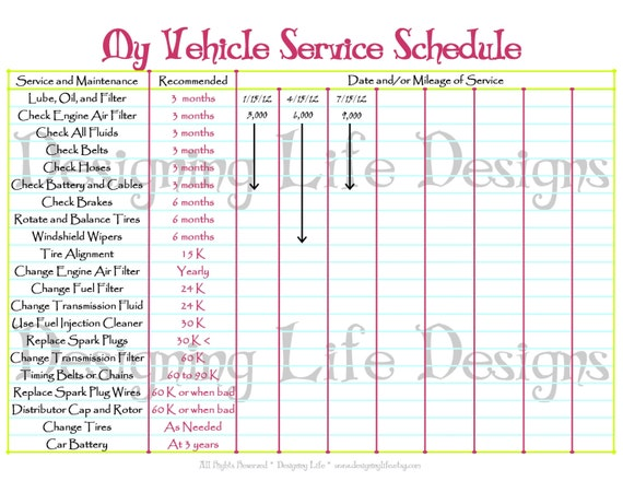 photo regarding Car Maintenance Schedule Printable referred to as Car or truck Routine Printable - Editable Support Log - Household Binder