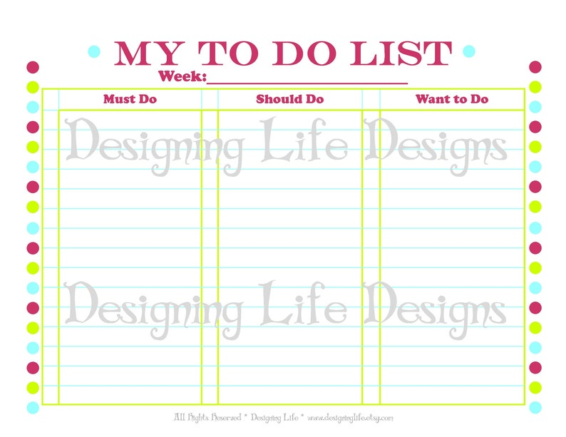 picture about To Do List Printable referred to as In the direction of Do Listing Printable Organizer - Ought to, Need to, Have to have in direction of Do Listing PDF