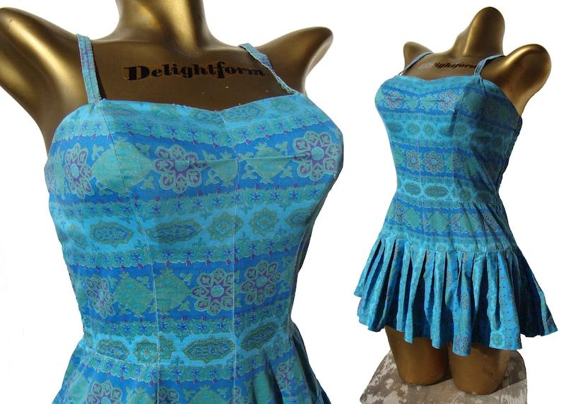 0c89788a5465 Vintage 50s Swimsuit Rose Marie Reid Pin Up Bathing Suit