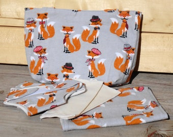 Doll Diaper Set, Doll Diaper Bag - Dapper Fox