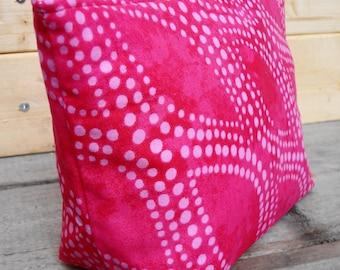 Zipper Pouch Cosmetic Bag - Pink Dot