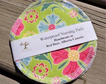 Nursing Pads, Waterproof Nursing Pads - Floral